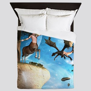 Awesome centaur with arrow and bow Queen Duvet