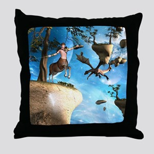 Awesome centaur with arrow and bow Throw Pillow