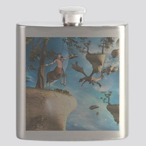 Awesome centaur with arrow and bow Flask