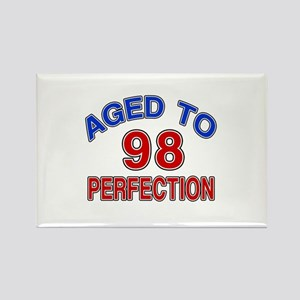98 Aged To Perfection Rectangle Magnet