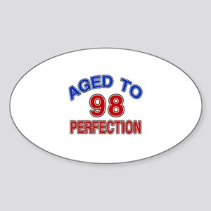 98 Aged To Perfection Sticker (Oval)