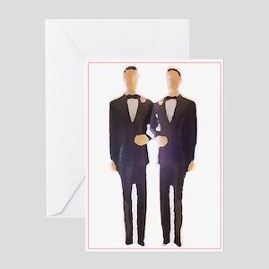 Gay Male Weddin Greeting Cards