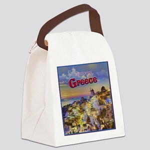 Santorini Greece Canvas Lunch Bag