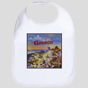 Santorini Greece Bib