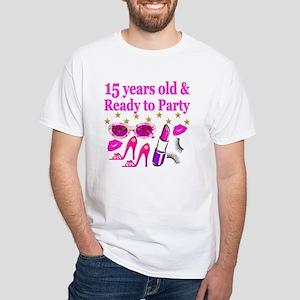 15TH BIRTHDAY White T-Shirt
