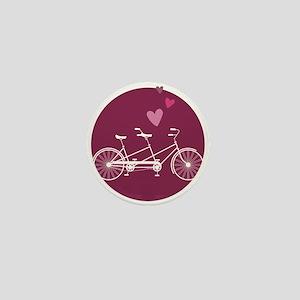 Tandem Bicycle Mini Button