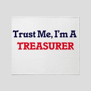 Trust me, I'm a Treasurer Throw Blanket