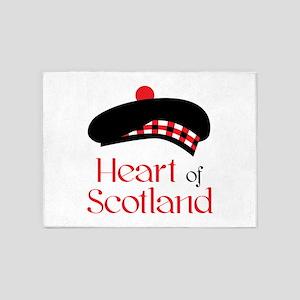 Heart of Scottland 5'x7'Area Rug
