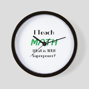 teach math Wall Clock