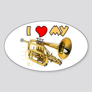 I *HEART* My Cornet Oval Sticker