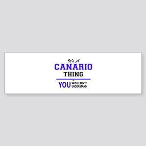 It's CANARIO thing, you wouldn't un Bumper Sticker