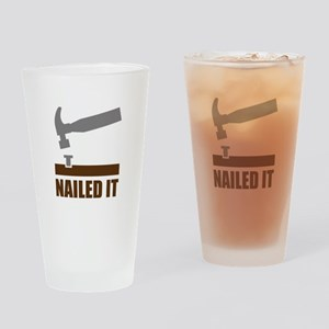 Nailed It Drinking Glass