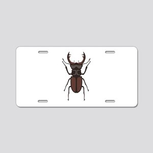 Stag Beetle Aluminum License Plate