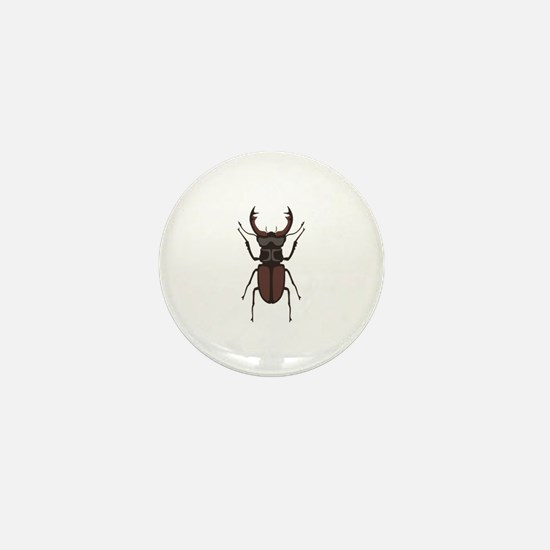 Stag Beetle Mini Button