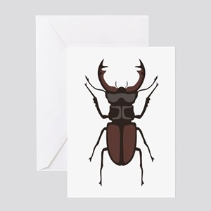 Stag Beetle Greeting Cards