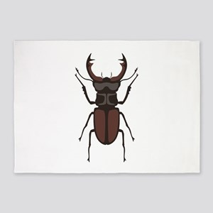Stag Beetle 5'x7'Area Rug