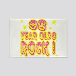 98 Year Olds Rock ! Rectangle Magnet