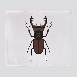 Stag Beetle Throw Blanket