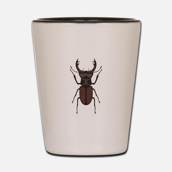 Stag Beetle Shot Glass