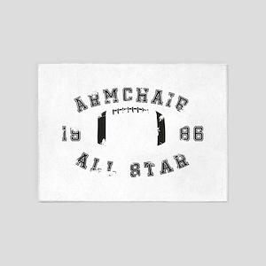 Armchair All Star Football 5'x7'Area Rug