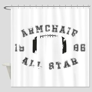 Armchair All Star Football Shower Curtain