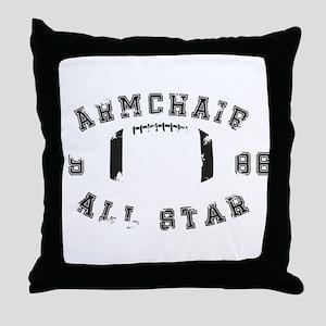 Armchair All Star Football Throw Pillow