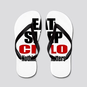 Eat Sleep Cello Flip Flops