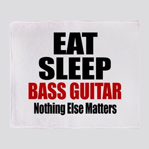 Eat Sleep Bass Guitar Throw Blanket