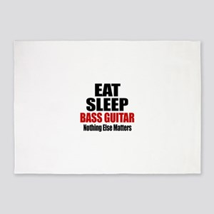Eat Sleep Bass Guitar 5'x7'Area Rug