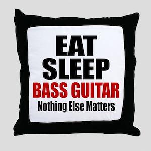 Eat Sleep Bass Guitar Throw Pillow