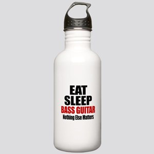 Eat Sleep Bass Guitar Stainless Water Bottle 1.0L