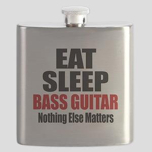 Eat Sleep Bass Guitar Flask