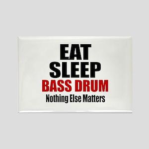 Eat Sleep Bass drum Rectangle Magnet