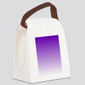 purple to white square Canvas Lunch Bag