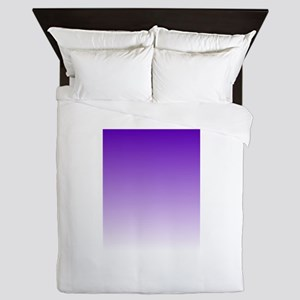 purple to white square Queen Duvet