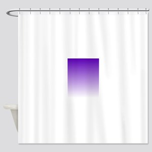 purple to white square Shower Curtain