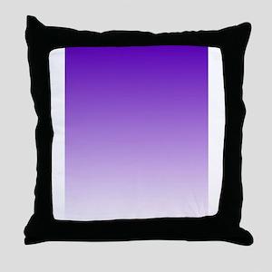purple to white square Throw Pillow