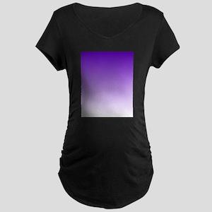 purple to white square Maternity T-Shirt