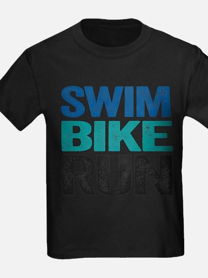 Triathlon. Swim. Bike. Run. T-Shirt