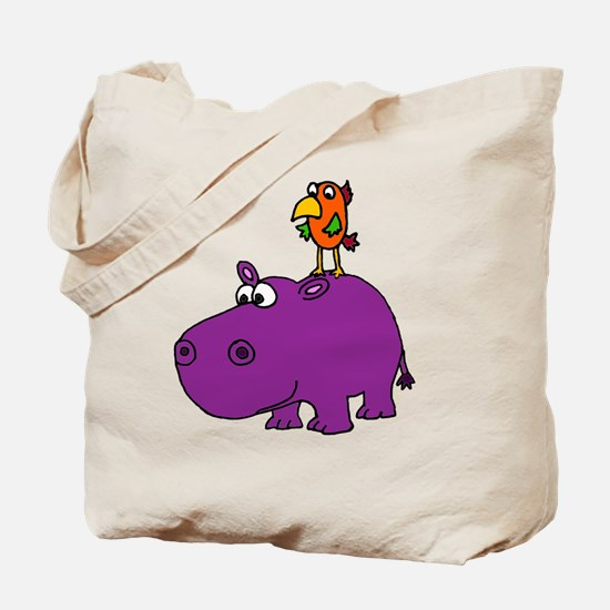 Unique Purple hippos Tote Bag
