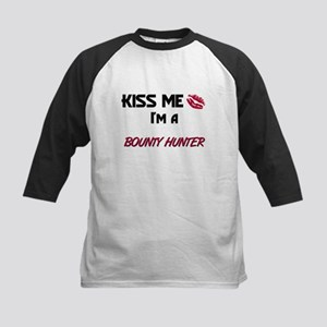 Kiss Me I'm a BOUNTY HUNTER Kids Baseball Jersey