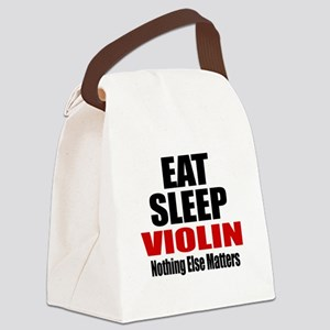 Eat Sleep Violin Canvas Lunch Bag