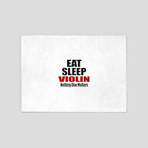 Eat Sleep Violin 5'x7'Area Rug
