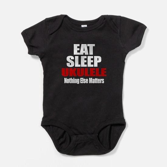 Eat Sleep Ukulele Baby Bodysuit