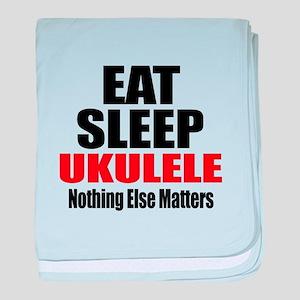 Eat Sleep Ukulele baby blanket