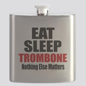 Eat Sleep Trombone Flask