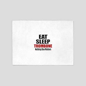 Eat Sleep Trombone 5'x7'Area Rug