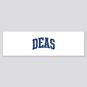 DEAS design (blue) Bumper Sticker