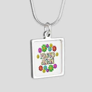 Proud Mimi Silver Square Necklace