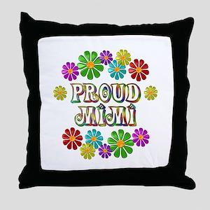 Proud Mimi Throw Pillow